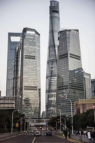 Lujiazui financial centre, home of Mandarin Oriental Pudong, Shanghai