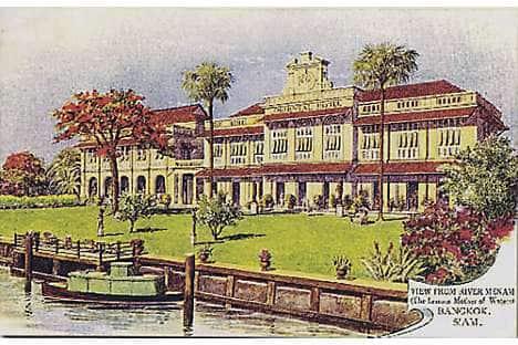 A postcard of The Oriental, Bangkok 1880