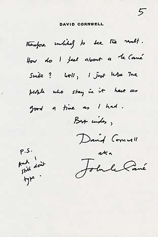 A letter from John Le Carré