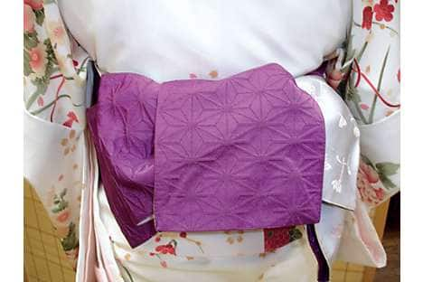 Detail from the furisode's obi sash