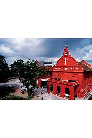 The Dutch colonial Christ Church in Malacca