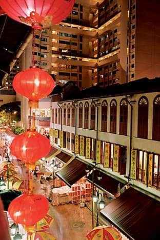 Vibrant Chinatown in Singapore