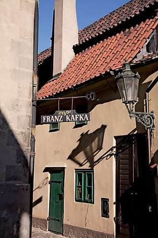 The Franz Kafka Café in Josefov