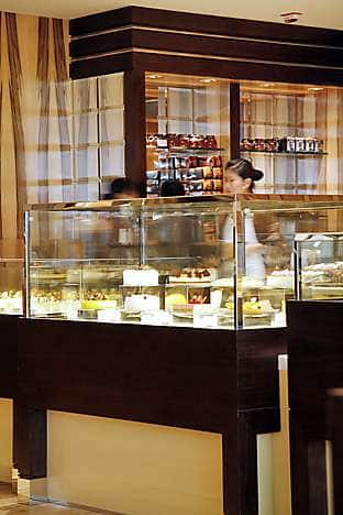 The counter at the Mandarin Cake Shop