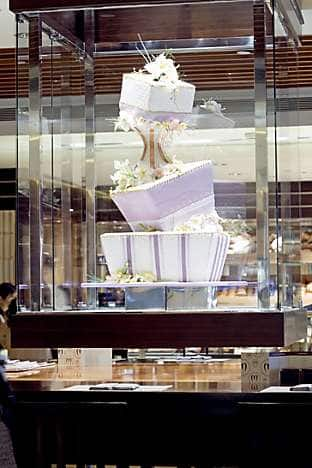 The cake centrepiece at the Mandarin Cake Shop
