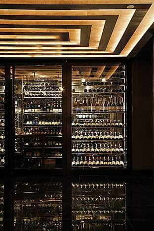 The extensive wine cellar at Pierre
