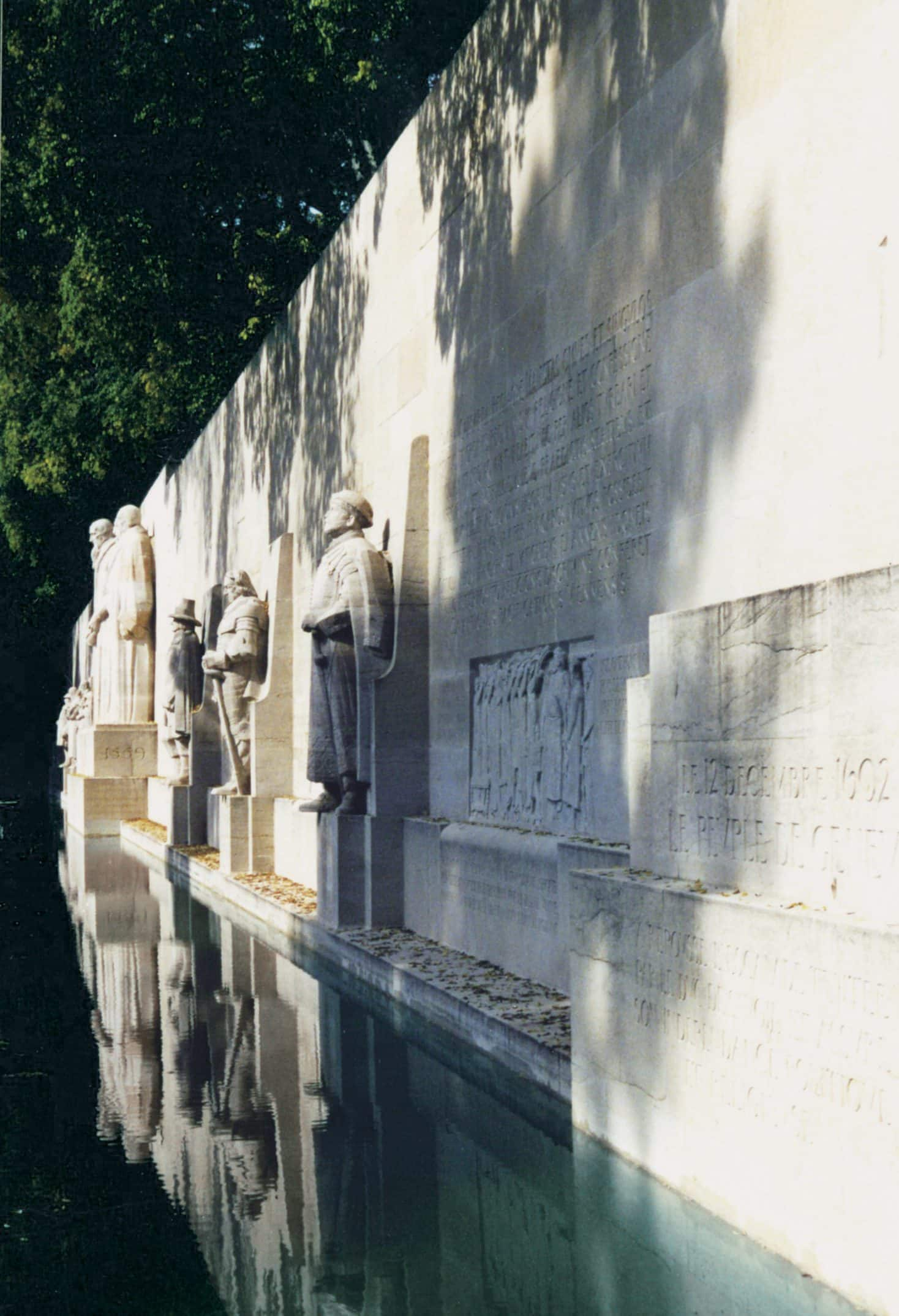 The Reformation Wall in the Parc des Bastions