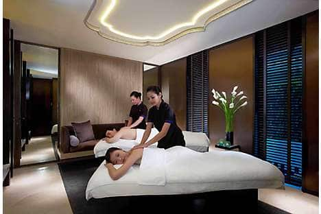 A Couples Suite at The Spa at Mandarin Oriental, Singapore