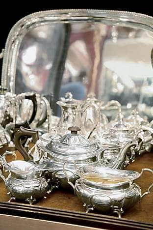 Silverware at Grays Antique Market