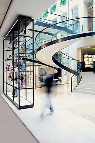 The interior of Asprey, designed by Sir Norman Foster