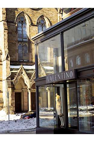 A Valentino storefront
