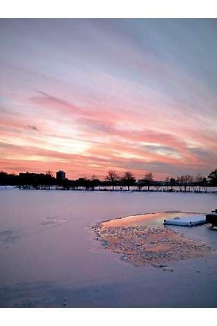 The Charles River at dusk