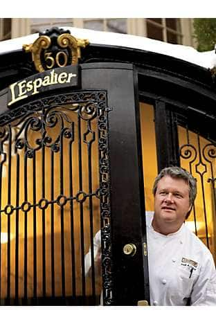 Chef McClelland at L'Espalier at Mandarin Oriental, Boston