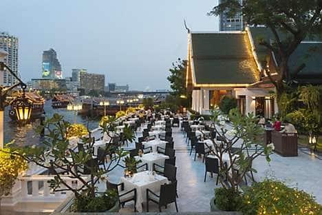 Sala Rim Naam and its terrace, at Mandarin Oriental, Bangkok