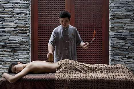 A TCM treatment at The Spa at Mandarin Oriental, Sanya