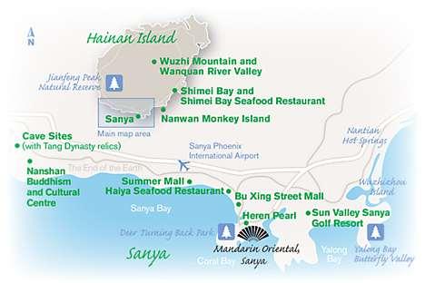 Map of Sanya