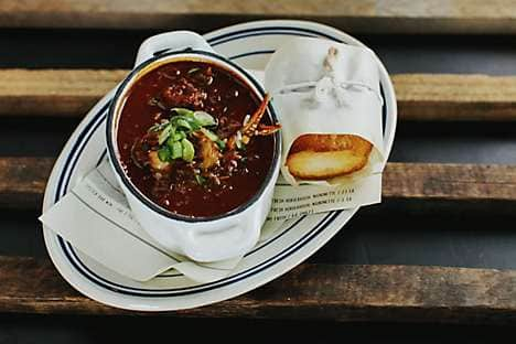 A seafood gumbo dish at The Optimist