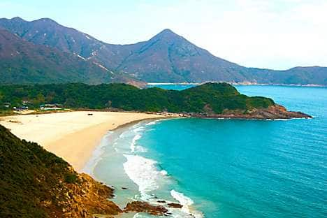 Big Wave Bay beach, near Shek O