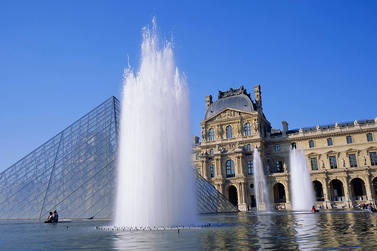 The Louvre and its glass Pyramid