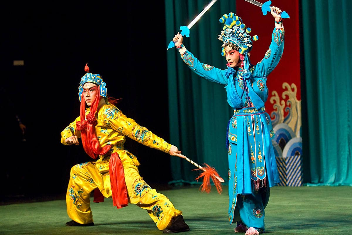 A Chinese opera performance at Taipei Eye