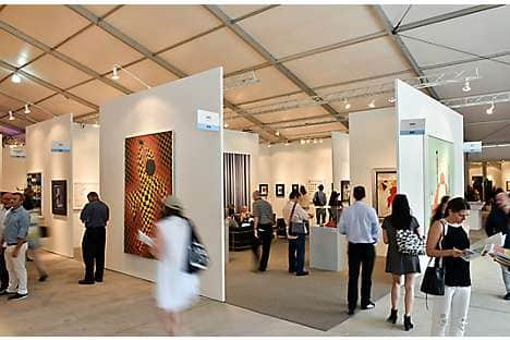 Contemporary art at the Art Miami show space