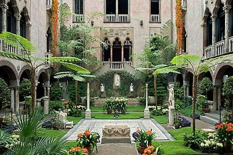 The courtyard of the Isabella Stewart Gardner Museum