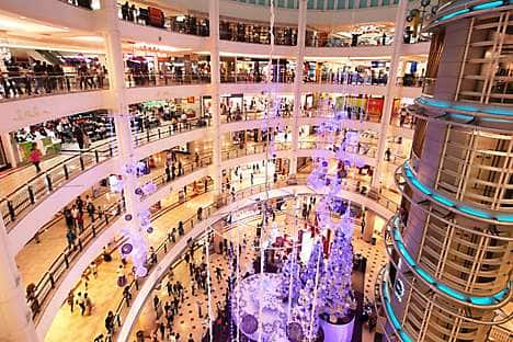 The Suria KLCC shopping mall at the Petronas Towers