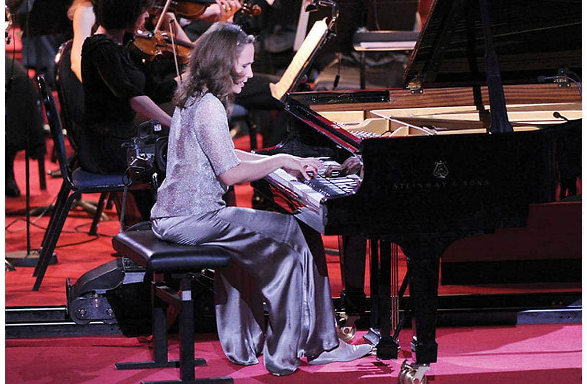 Hélène Grimaud giving a concert performance