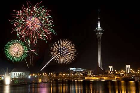 Macau International Fireworks Display Contest, near the Macau Tower