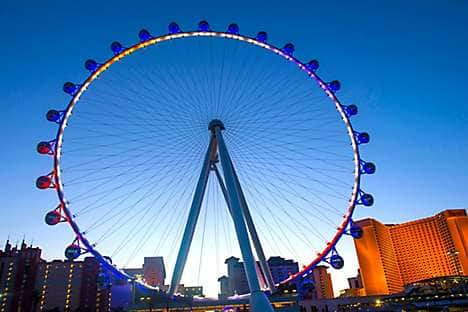 The new High Roller Ferris wheel