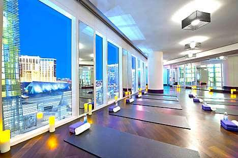 The yoga studio at Mandarin Oriental, Las Vegas
