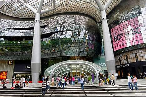 Find bargains at one of the luxury Orchard Road malls