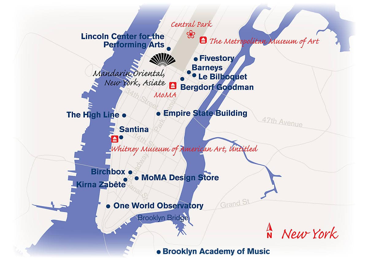 Show Me The Map Of New York.New York Luxury Travel Concierge Destination Mo By Mandarin Oriental
