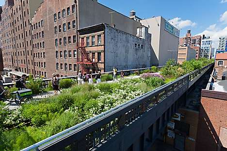 The High Line, a public park on a former railway track