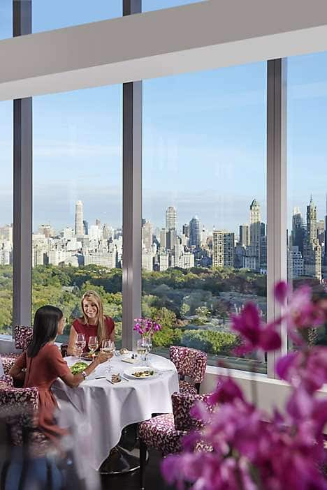 Dining with a Manhattan panorama at the hotel's signature restaurant, Asiate