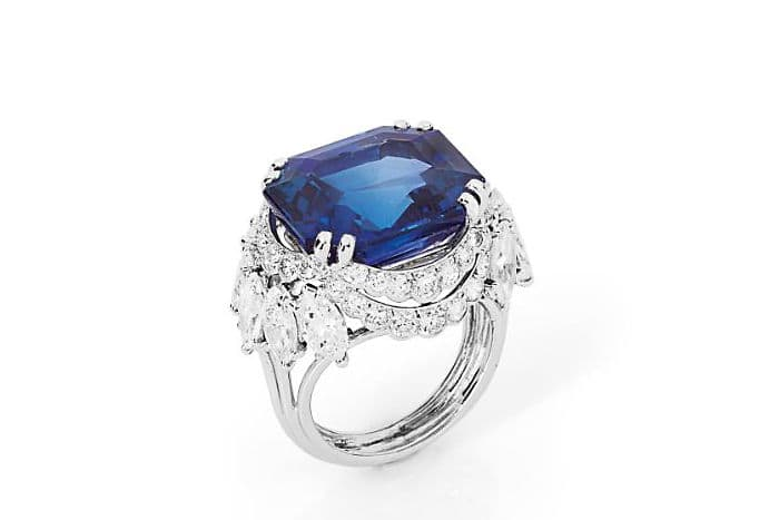 A sapphire and diamond ring, by CARTIER**