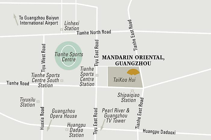 Mandarin Oriental, Guangzhou hotel directions and map