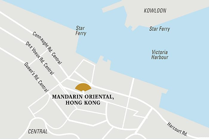 Mandarin Oriental, Hong Kong hotel directions and map.