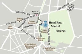 Luxury hotels madrid golden triangle the ritz madrid for Direccion madrid espana