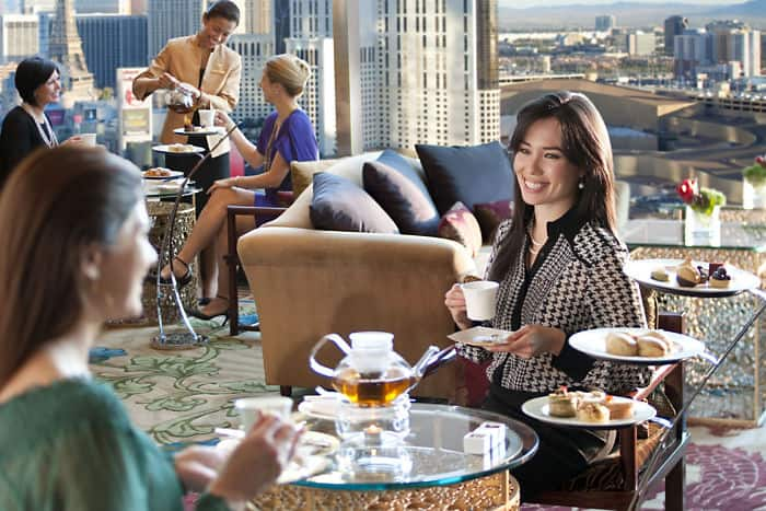 Tea lounge afternoon tea mandarin oriental las vegas for Acqua salon boston