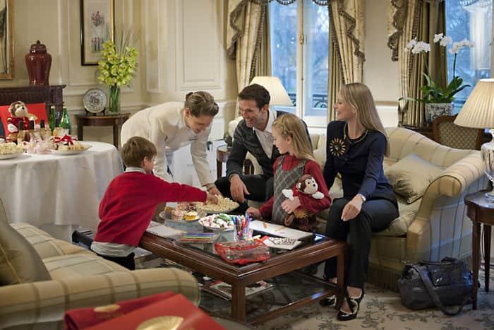 Chambre familiale de la suite présidentielle