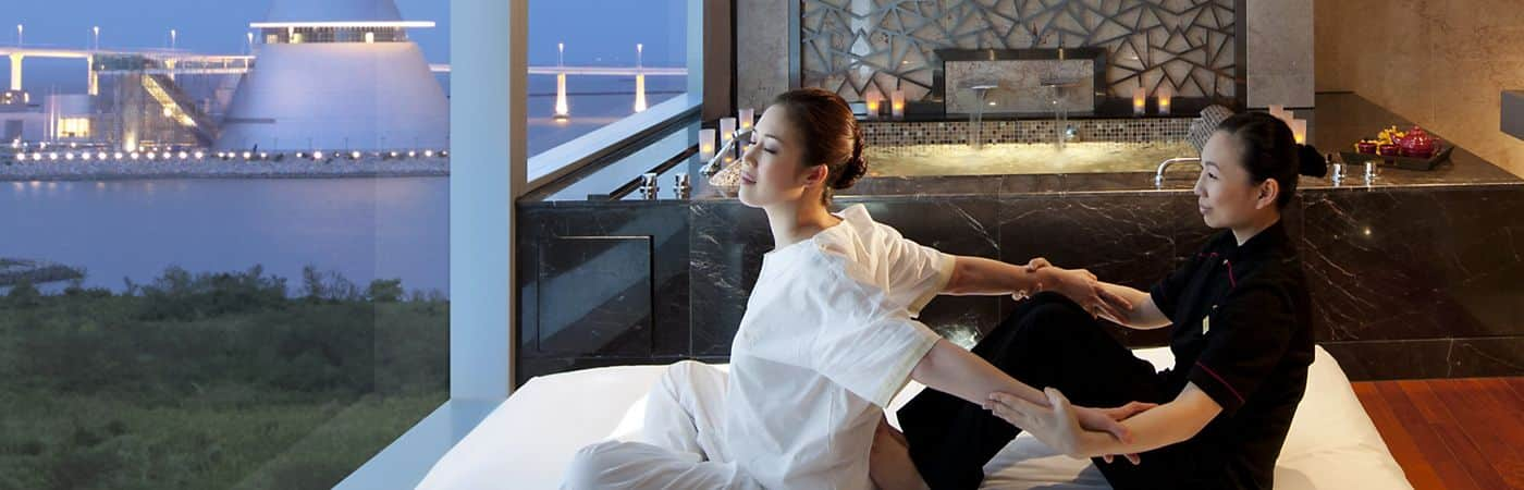 Enjoy the serene surroundings of Mandarin Oriental, Macau's luxury spa.