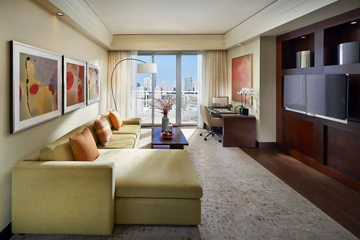 Miami suites dynasty suite mandarin oriental miami for 5 star living rooms
