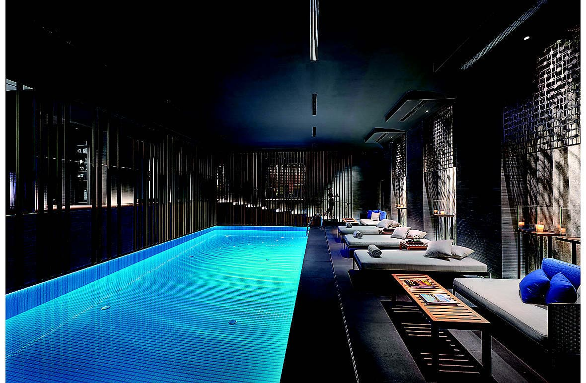 Take a relaxing dip in the lap pool in the tranquil ambience of The Spa at Mandarin Oriental, Milan