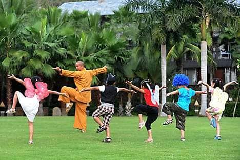 Shaolin kung fu with Master Hu at Mandarin Oriental, Sanya