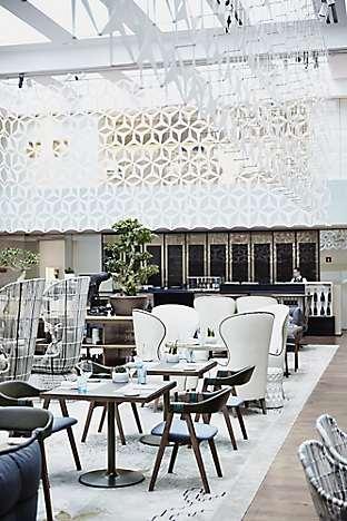 The interior of León's Bistreau restaurant at Mandarin Oriental, Barcelona