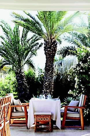 Mandarin Oriental, Marrakech's Pool Garden restaurant