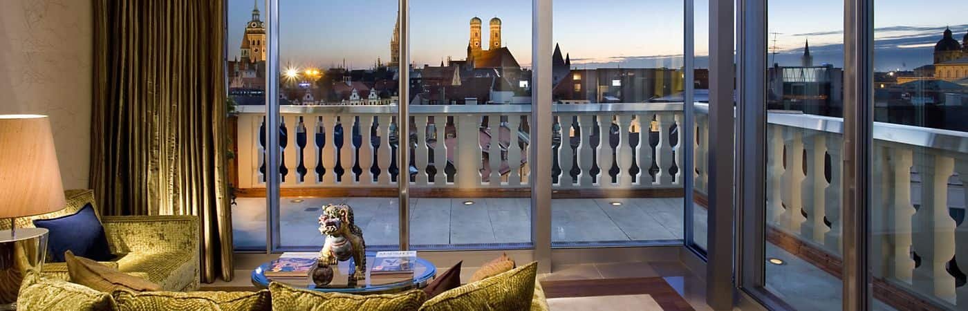 Mandarin Oriental, Munich has 73 individually designed rooms and suites that provide guests with a chic, yet comfortable, East-meets-West aesthetic.