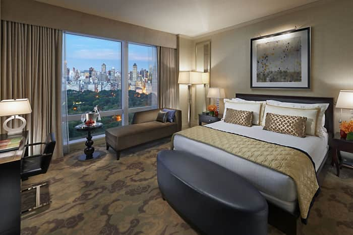 chambre avec vue sur central park h tel mandarin oriental new york. Black Bedroom Furniture Sets. Home Design Ideas