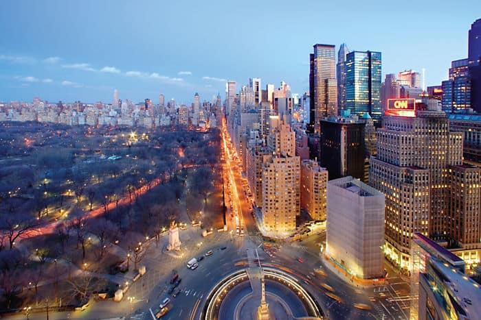 Views of Columbus Circle and Central Park